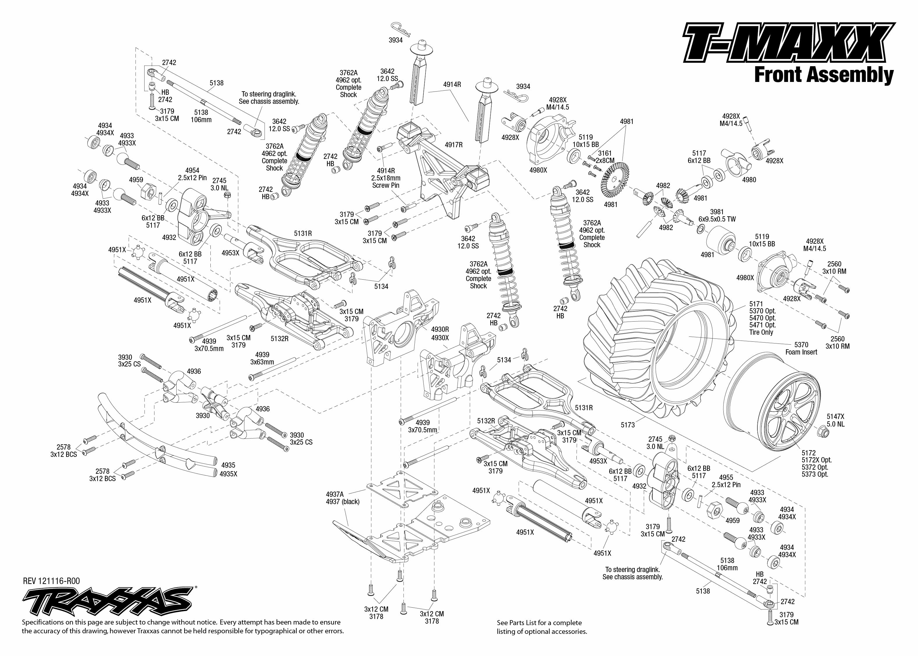 [DIAGRAM_5UK]  T-Maxx (49104) Front Assembly | Exploded View | Traxxas | Traxxas 2 5 Engine Diagram |  | Traxxas